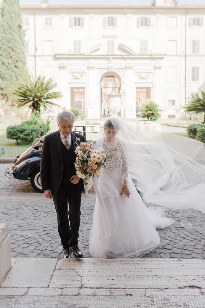 ingresso della sposa santa cecilia in trastevere