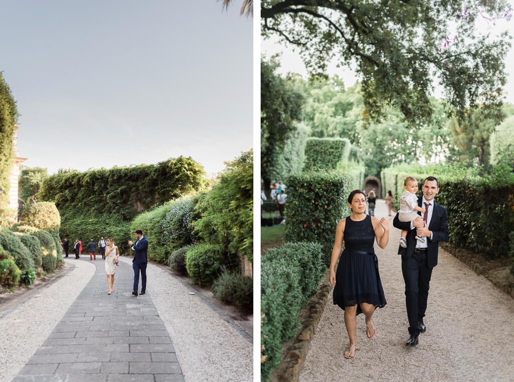 arrivo ospiti matrimonio villa aurelia