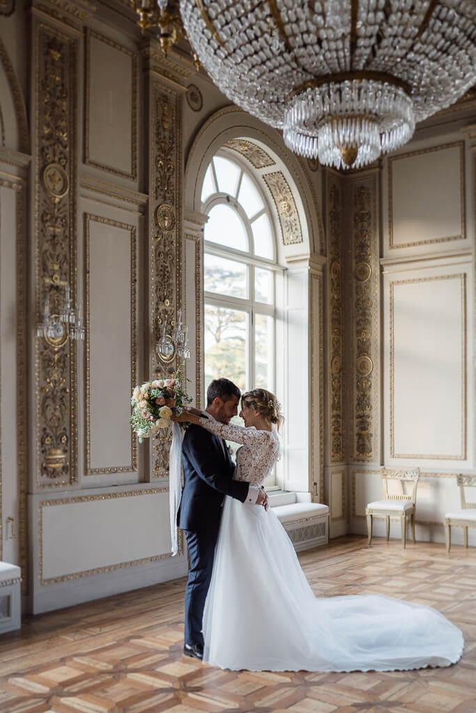 foto degli sposi in villa aurelia