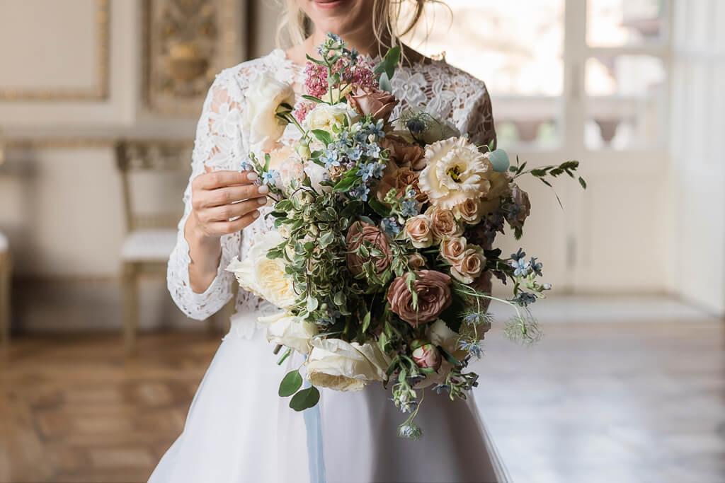 il bouquet della sposa in villa aurelia