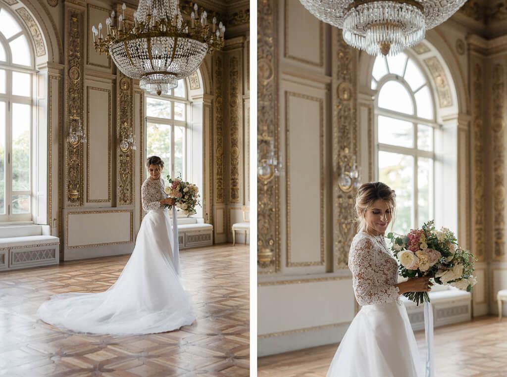 foto della sposa in villa aurelia