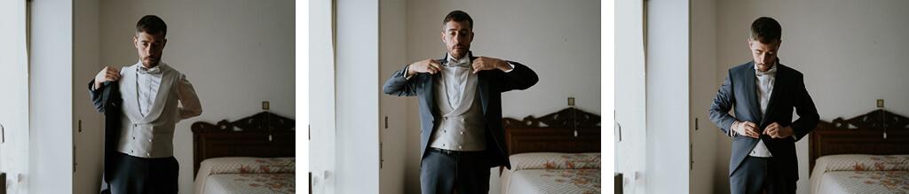lo sposo indossa la giacca